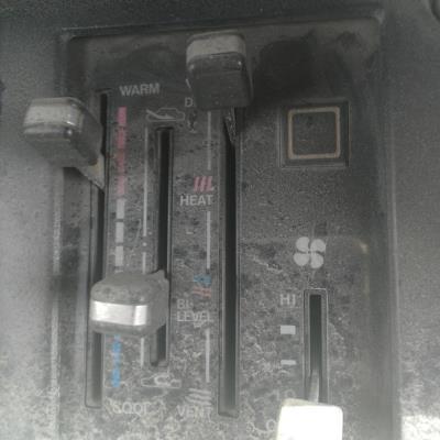 لوحة تحكم مكيف باص تويوتا هايس 1984